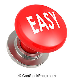 Easy red button image with hi-res rendered artwork that...