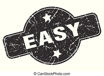 easy round grunge isolated stamp
