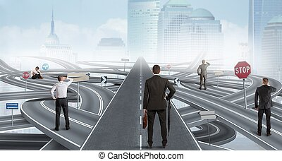 Easy solution of a businessman - Concept of easy solution of...