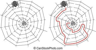 Easy spider maze