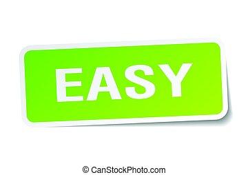 easy square sticker on white