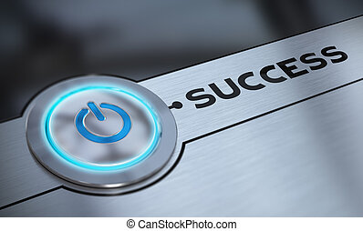 Easy Success and Aiming - Success push button with blue tone...