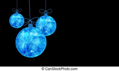 Easy swaying of Christmas blue balls.