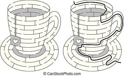 Easy tea maze