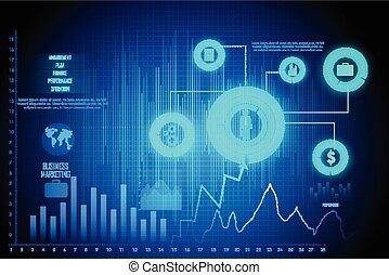 Business Financial Graph Chart Diagram