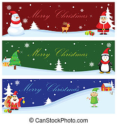 Christmas Banner - easy to edit vector illustration of ...