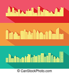easy to edit vector illustration of Cityscape with Skyscraper Building