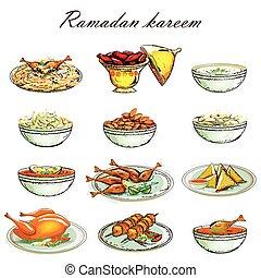 Food Icon for Ramadan Kareem
