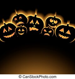 vector illustration of Halloween Background with Pumpkin