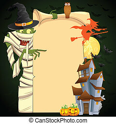 Halloween Mummy - easy to edit vector illustration of...