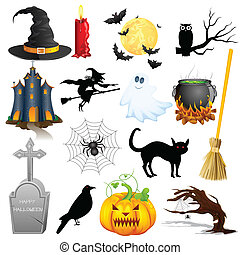 easy to edit vector illustration of Halloween Object