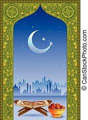 Koran in Eid Mubarak (Happy Eid) background - easy to edit...
