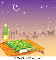 Koran in Happy Eid background - easy to edit vector ...