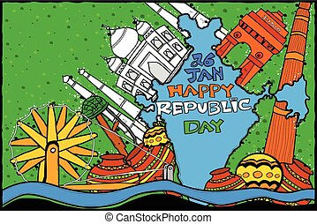 Indian Republic Day celebration background