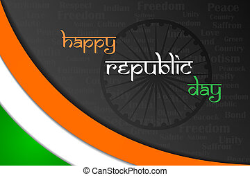 Indian Republic Day - easy to edit vector illustration of...