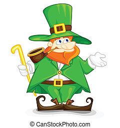 easy to edit vector illustration of Laprachun on Saint Patrick's Day