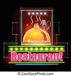 Neon Light signboard for Restaurant