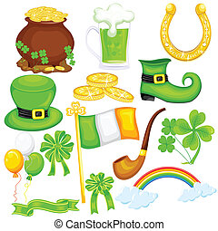 Saint Patrick's Day - easy to edit vector illustration of...