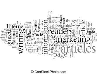 Easy To Read Articles text background wordcloud concept