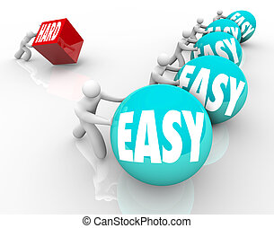 Easy vs Hard Competing Underdog Overcoming Difficulty