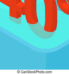 Easy washing icons set, isometric style