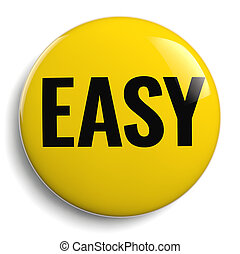 Easy Yellow Button 3D Symbol