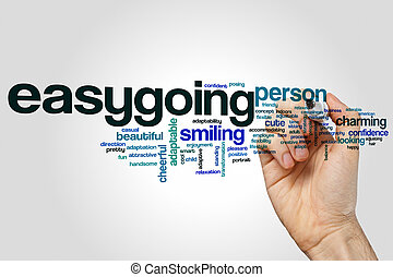 Easygoing word cloud