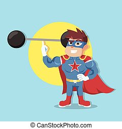 easyly, superhero, elevación, peso