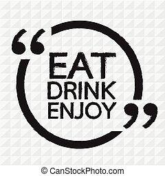 EAT DRINK ENJOY Illustration design