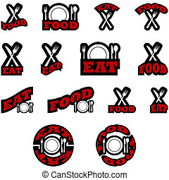 Eat food icons