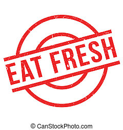 Eat Fresh rubber stamp
