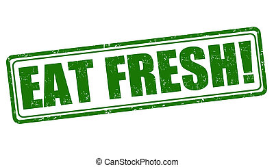 Eat fresh stamp