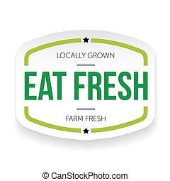 Eat fresh vintage label