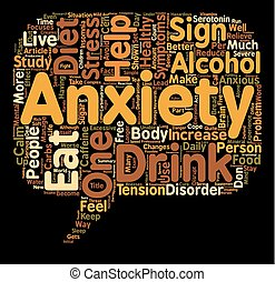 Eat Healthy and Be Free from Anxiety text background wordcloud concept