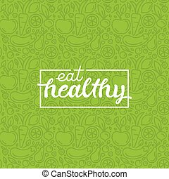 Eat healthy - motivational poster - Eat healthy -...