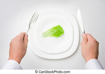 eat less! concept of healthy eating / dieting