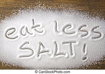 Eat less salt – medical concept