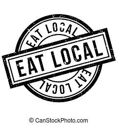 Eat Local rubber stamp