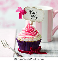 """Eat Me"" cupcake - Cupcake with ""Eat Me"" pick"