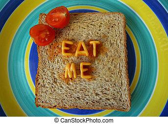 eat me words on toast