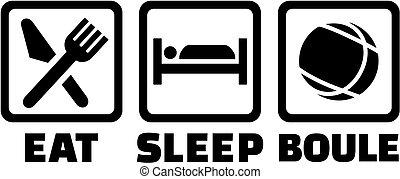 Eat sleep boule icons