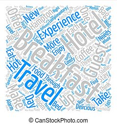 Eat Up Travelers Enjoy Breakfast On The Road text background word cloud concept