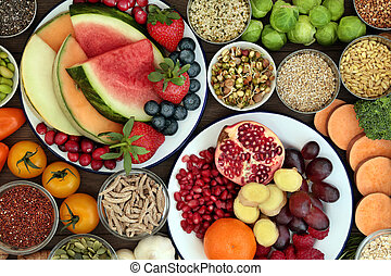 Eat Well for Good Health - Health food concept with fresh...