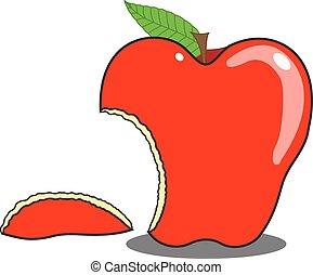 Eaten Apple Shape Vector