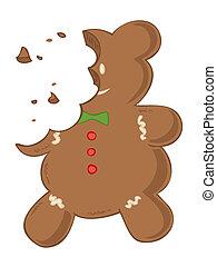 Eaten gingerbread.