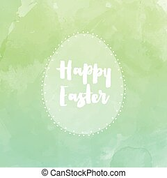 Easter egg background with watercolor effect
