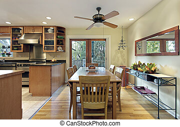 Eating area of kitchen