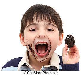 Eating Chocolate Cookies