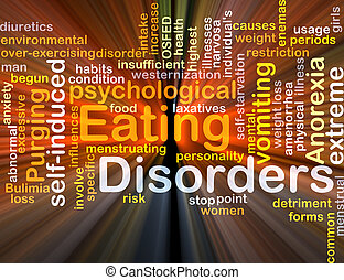 Eating disorders background concept glowing - Background...