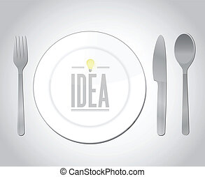 eating great ideas illustration design